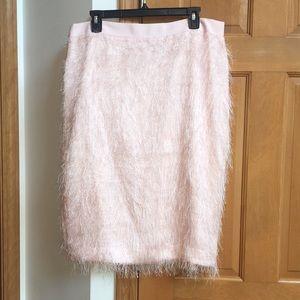 NWT Banana Republic Pink Fuzzy Skirt - Size 14